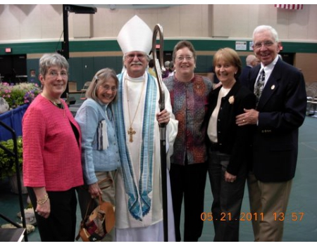 Bishop Ray with Trinity Members